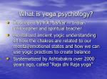 what is yoga psychology