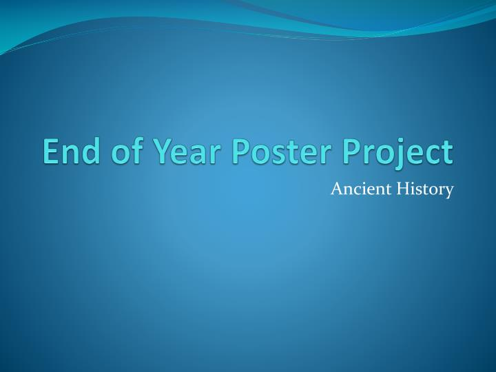 end of year poster project n.