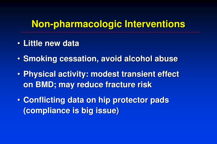 Non-pharmacologic Interventions