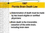 1987 florida brain death law