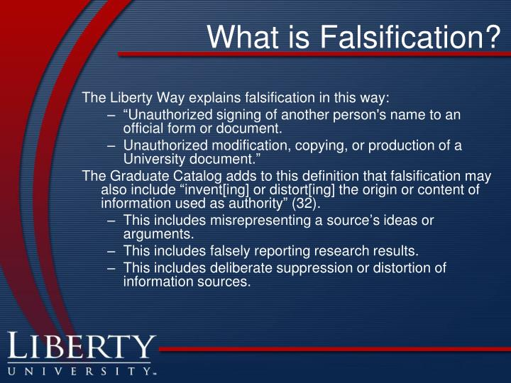 What is Falsification?