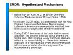 emdr hypothesized mechanisms