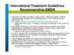 international treatment guidelines recommending emdr2