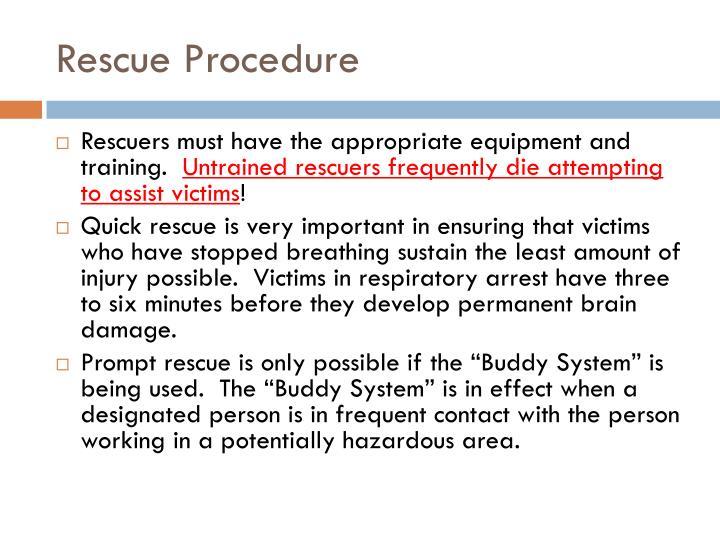 Rescue Procedure