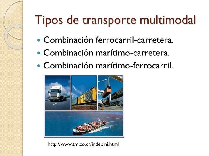 Tipos de transporte multimodal
