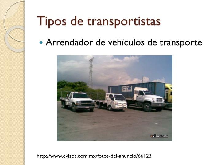 Tipos de transportistas