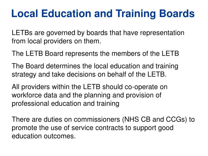Local Education and Training Boards