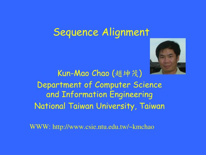 sequence alignment n.