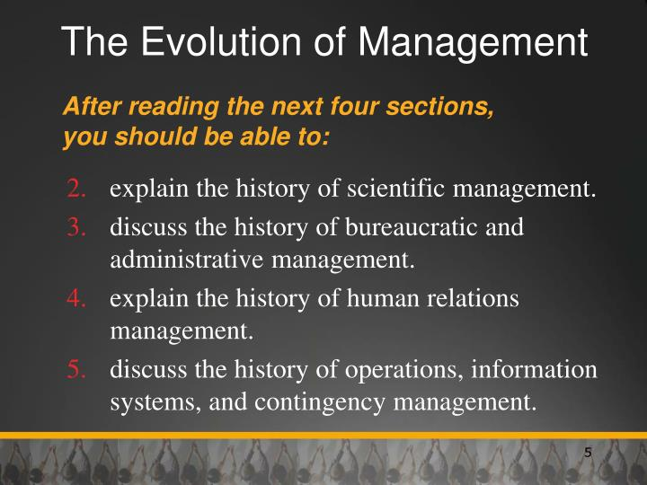 history and evolution of management The history of strategic management can be traced strategic management has been important throughout history, but the evolution of strategic management into a.