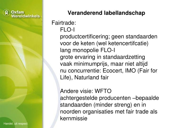Veranderend labellandschap