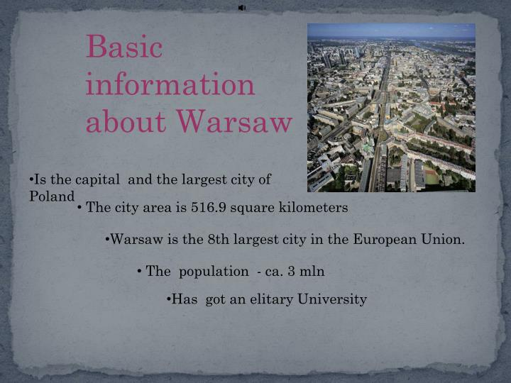Basic information                         about Warsaw