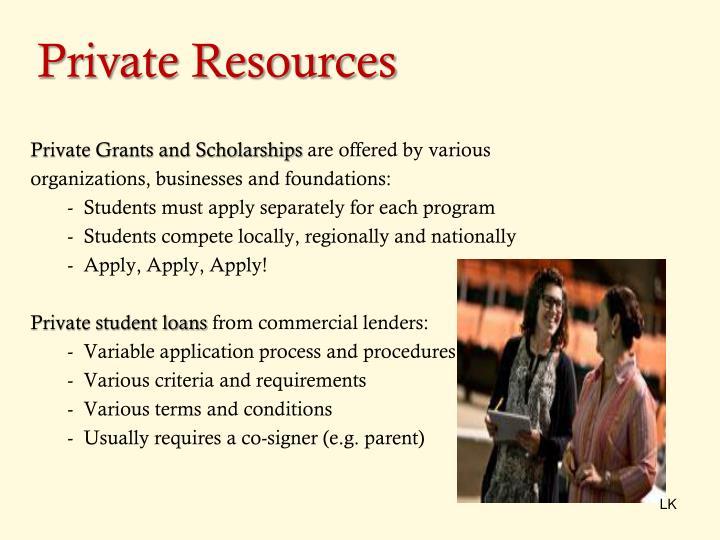 Private Resources
