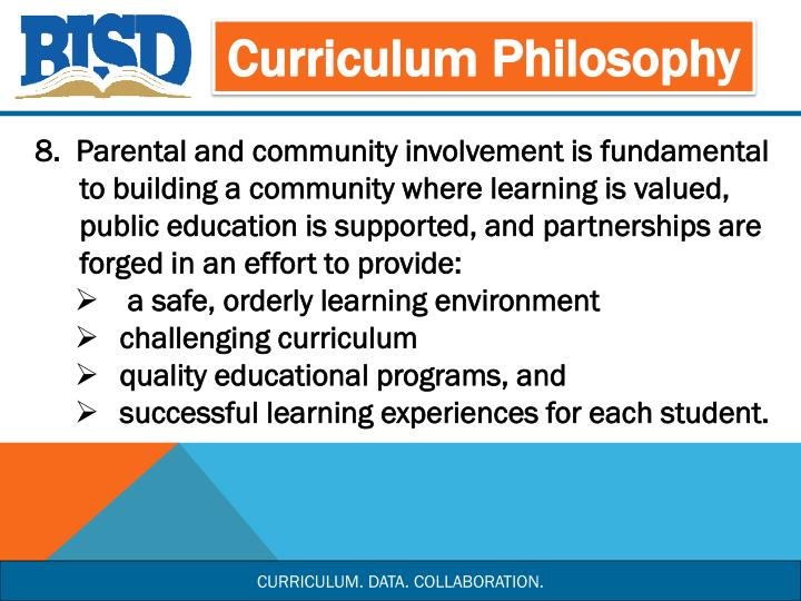 Curriculum Philosophy