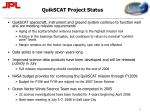 quikscat project status