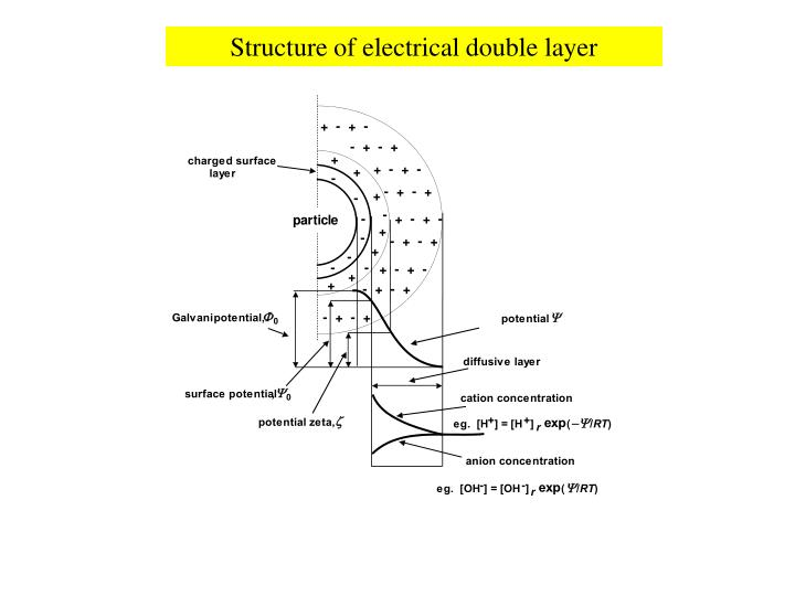 Structure of electrical double layer