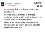 design spec