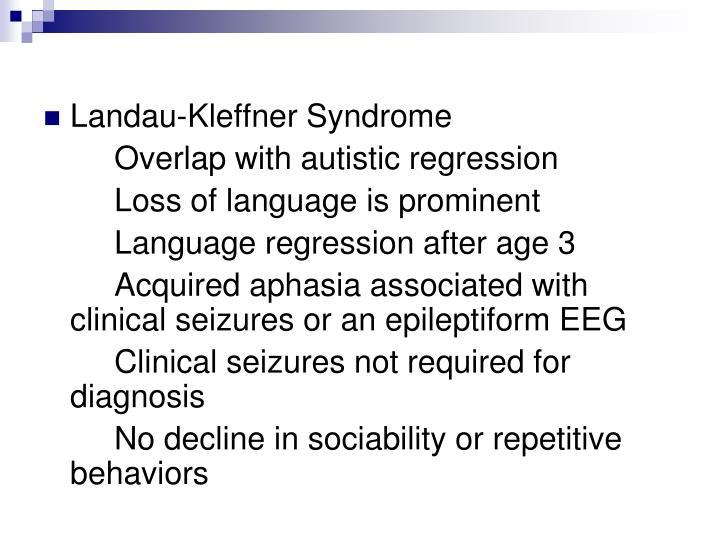 Landau-Kleffner Syndrome