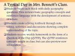 a typical day in mrs bennett s class