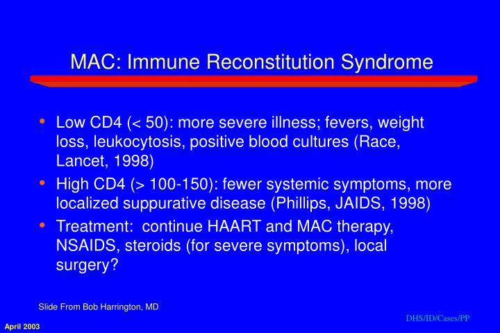 MAC: Immune Reconstitution Syndrome