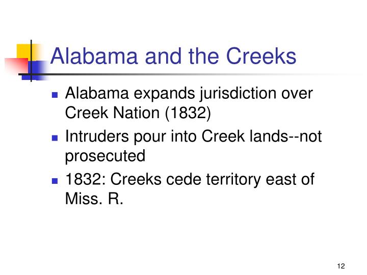 Alabama and the Creeks