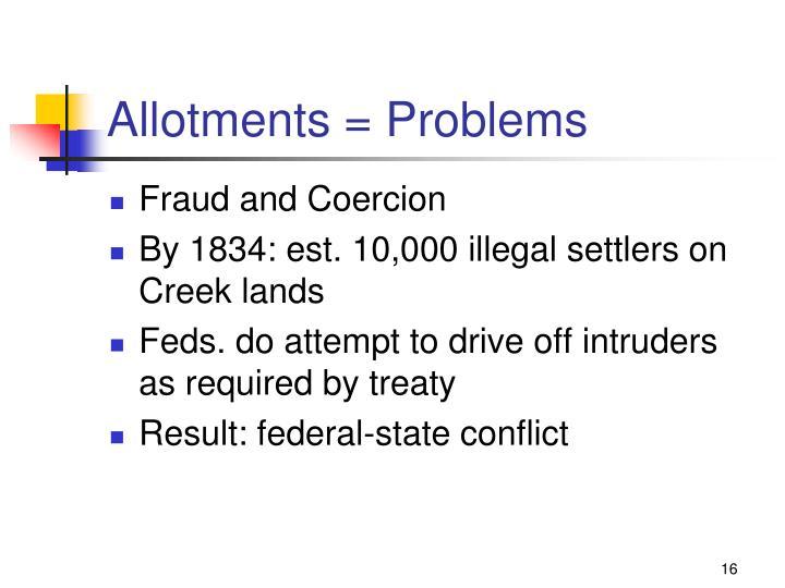 Allotments = Problems