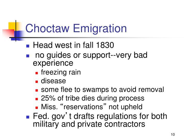 Choctaw Emigration