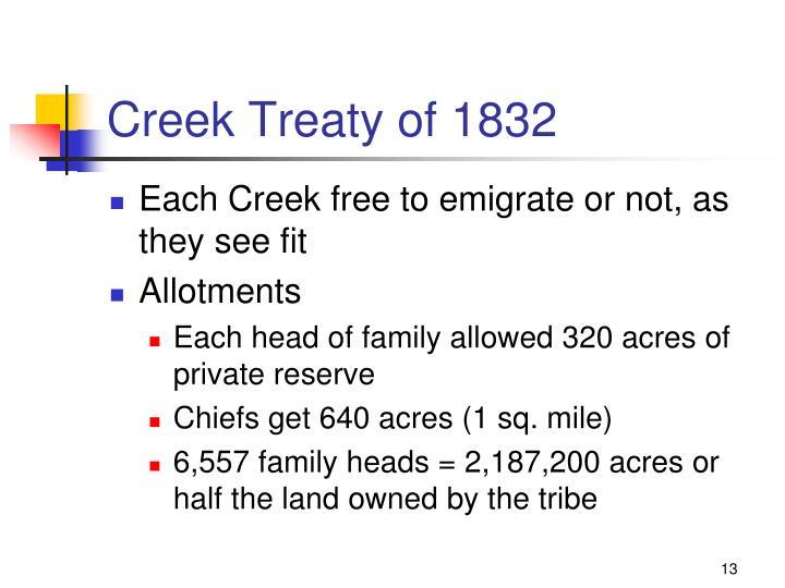 Creek Treaty of 1832