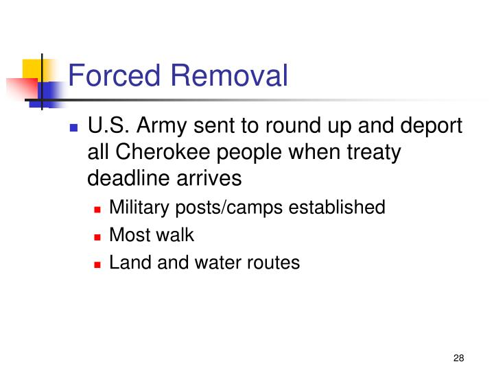 Forced Removal
