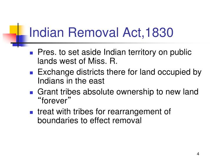 Indian Removal Act,1830