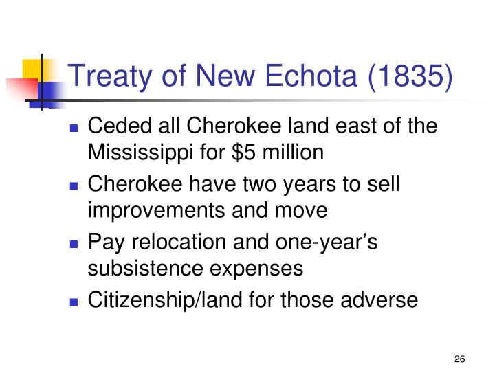 Treaty of New Echota (1835)