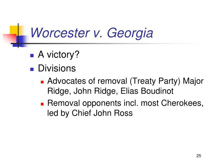 Worcester v. Georgia
