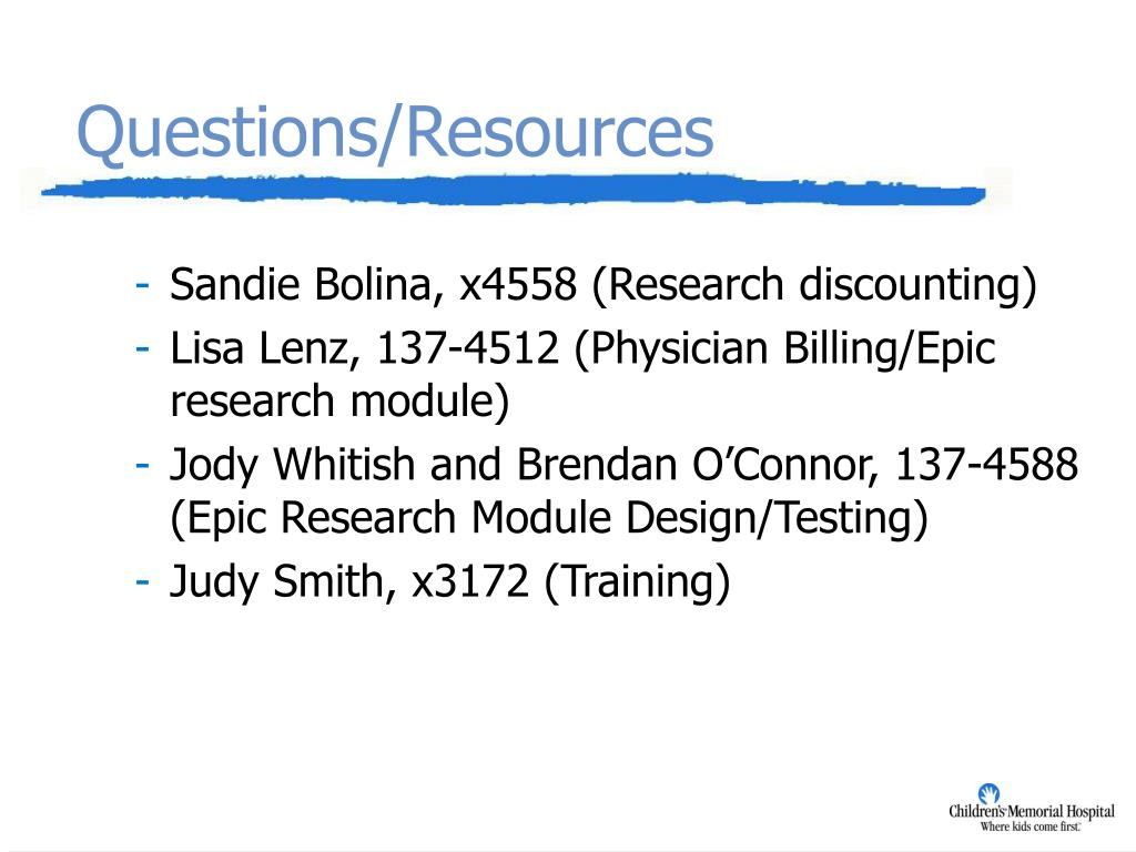 PPT - Epic Research Module Presentation to Clinical Research