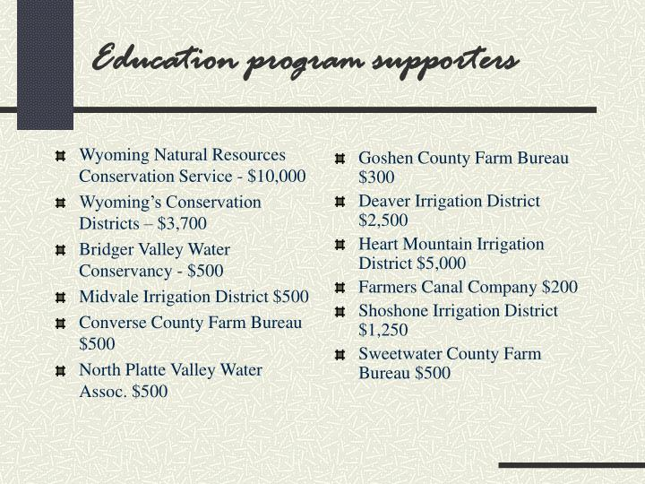 Wyoming Natural Resources Conservation Service - $10,000