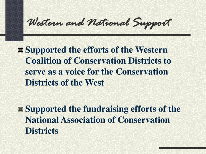 Western and National Support