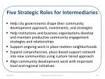 five strategic roles for intermediaries