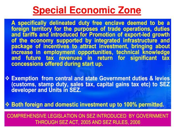 special economic zone act 2012