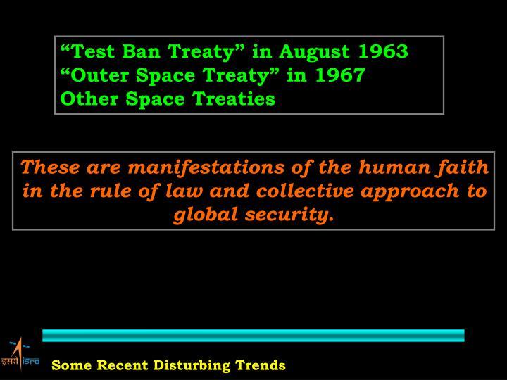 """Test Ban Treaty"" in August 1963"