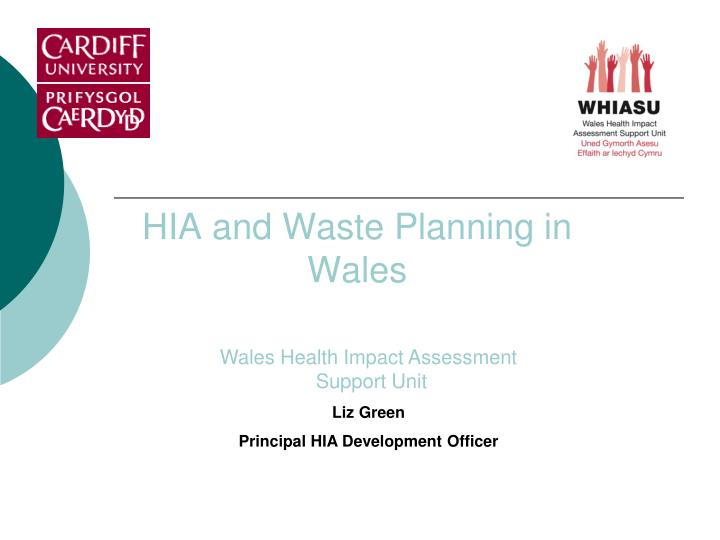 hia and waste planning in wales n.