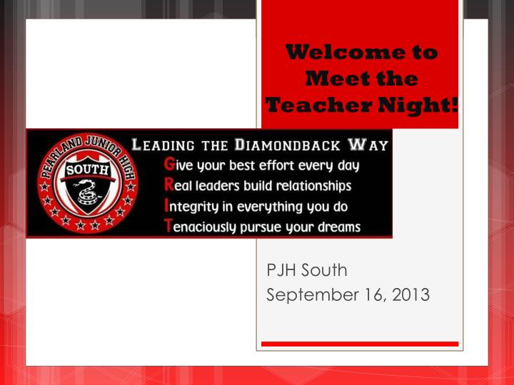 PPT - Welcome to Meet the Teacher Night! PowerPoint