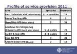 profile of service provision 2011