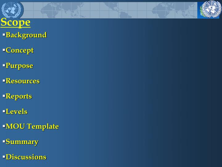 Ppt united nations stand by arrangements system unsas powerpoint scope toneelgroepblik Images