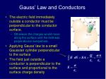 gauss law and conductors1