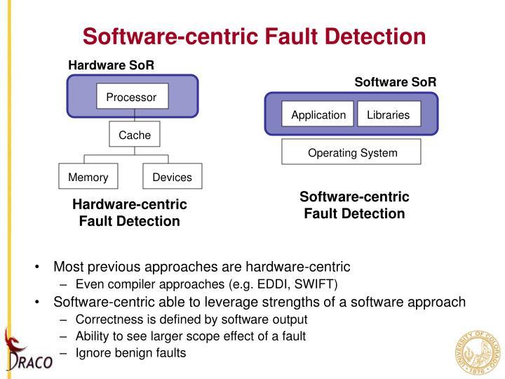 Software-centric Fault Detection