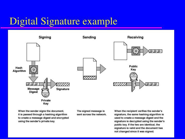 Digital Signature example