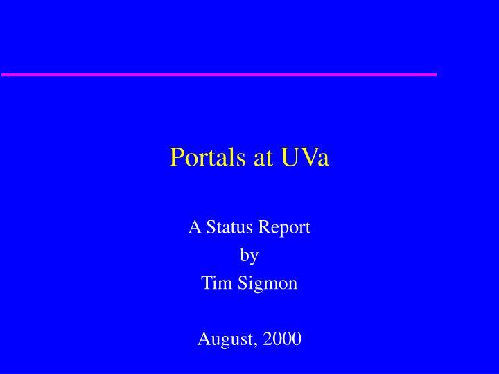 Portals at UVa