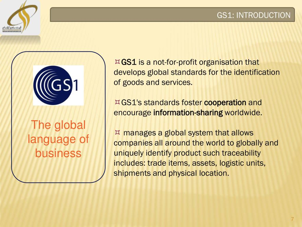 PPT - RFID SEMINAR THE PROMOTION OF GLOBAL STANDARD ONE (GS1
