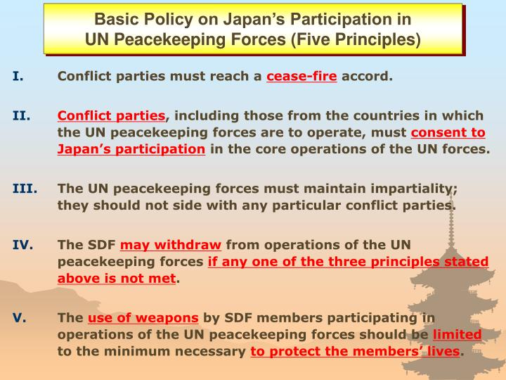 Basic Policy on Japan's Participation in