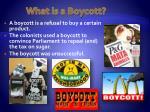 what is a boycott