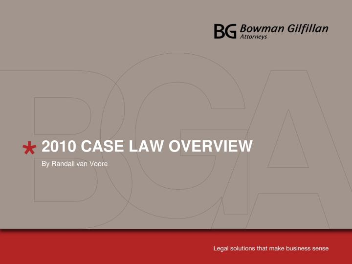 2010 case law overview n.