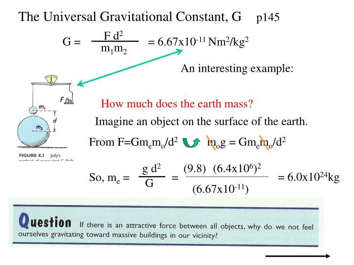 The Universal Gravitational Constant, G